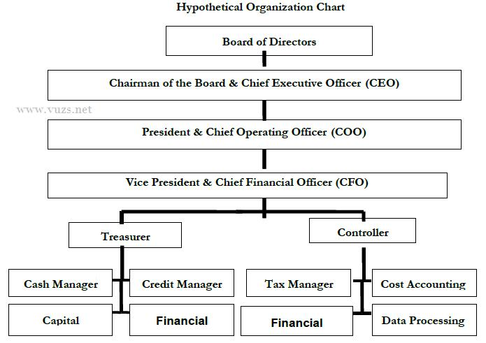 organizational hierarchy according to finance department. Black Bedroom Furniture Sets. Home Design Ideas